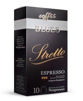 картинка Blues coffee Stretto от интернет-магазина Coffezza